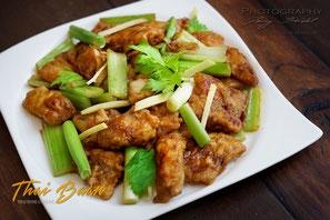 Pla Phad Klün Shai; ; Thai Baan Neudorf; Yupin Seidel; thailändischer Kochservice; Foodtruck; Kochkurs, Thaifood, gesunde Ernährung, Restaurant