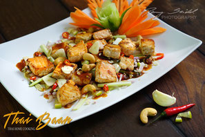 Yam Plah Thod Sa Mun Prai; ; Thai Baan Neudorf; Yupin Seidel; thailändischer Kochservice; Foodtruck; Kochkurs, Thaifood, gesunde Ernährung, Restaurant