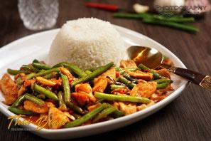 Gai Phad Prik Gaeng; ; Thai Baan Neudorf; Yupin Seidel; thailändischer Kochservice; Foodtruck; Kochkurs, Thaifood, gesunde Ernährung, Restaurant
