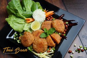 Yam Khao Thod, ; Thai Baan Neudorf; Yupin Seidel; thailändischer Kochservice; Foodtruck; Kochkurs, Thaifood, gesunde Ernährung, Restauran