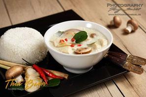 Tom Kha Gai; Thai Baan Neudorf; Yupin Seidel; thailändischer Kochservice; Foodtruck; Kochkurs, Thaifood, gesunde Ernährung, Restaurant