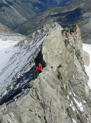 Zinalrothorn, Nordgrat, Mountet, Rasoir