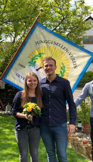 Unser Maikönigspaar 2018: Christoph Backes und Sina Schmickler