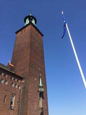 Das Rathaus in Stockholm