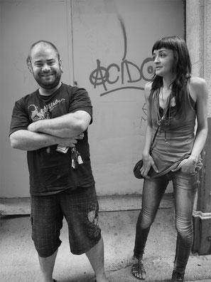 Iván, Herrero y Laura, Vidriera, Toledo  2013