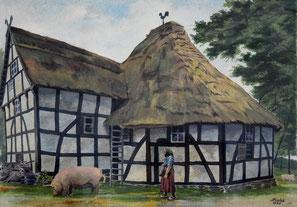 Erich Fuchs: Rückseite der Roßmühle