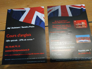 flyer Alp' Assistant pour les cours d'anglais