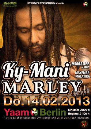 Mayembé Malayika @Ky-Mani Marley Show Berlin