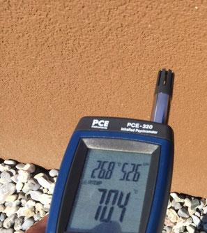 Oberflächentemperatur 70.4 °C