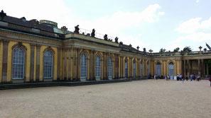 Schloss Sanssouci, Nordseite