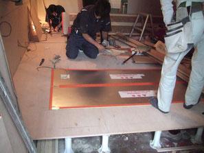 床暖房工事の写真