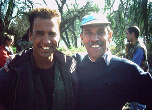 ©Sam Firstenberg, mit Jeff Fahey am Set von Operation Delta Force