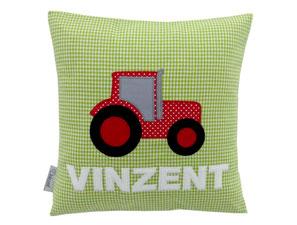 Kissen 30x30 Namenskissen Traktor