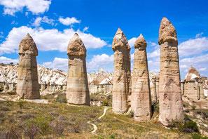 Kappadokien, Anatolien, Türkei, Fotostock preiswert, Unesco Welterbe, bizarre Landschaft