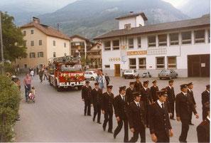 Die Feuerwehrhalle von 1973 - 1986