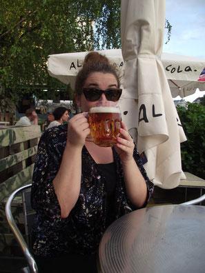 Beer, Danube Canal, Vienna, Austria, Europe