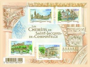 Les Chemins de Saint-Jacques-de-Compostelle. Temple de Paris