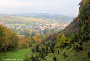 """Hofgeismarer Tal"" der Eberschützer Klippen im Herbst"