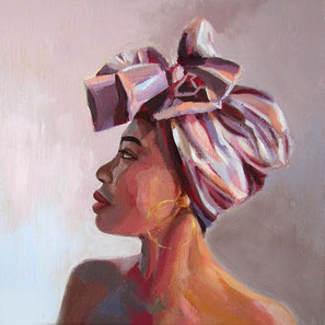 """Women painting """"Zola"""" 30 x 30 cm (11,8 x 11,8 inches)"""