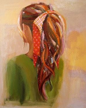 """Women painting """"Yelena"""" 40 x 50 cm (15,7 x 19,7 inches)"""