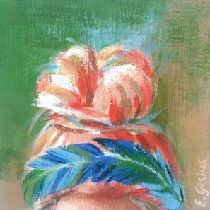 "Original Gemälde Frauenportrait ""Gerda"" 15 x 15 cm"