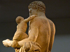 Hermes beschützt Dionysos