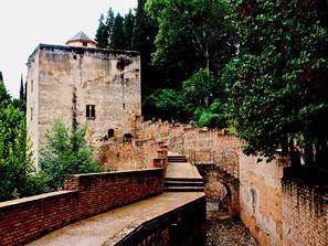 tief beeindruckt verliessen die Alhambra