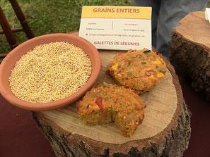 galettes de millet aux légumes version four