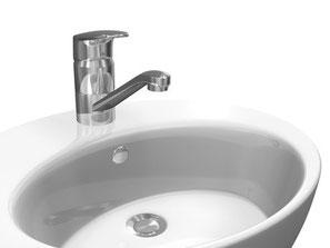 異物を落とした洗面所の排水管修理