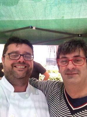 Bati Bordes con el bueno de Antonio Llorens