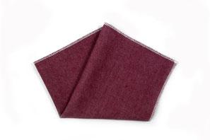 Einstecktuch in dunkel rose- rot - jeans