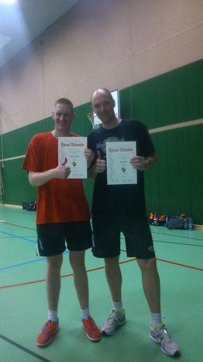 Sichtlich erfreut: Thorsten Arends (l.) und Ingo Reiter (r.)