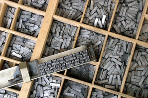 Der Begriff Bleiwüste kommt von den alten Bleilettern, die für den Buchdruck genutzt wurden.