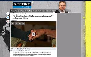 'REPORT MAINZ Beitrag - Für Betroffene haben falsche Alzheimerdiagnosen oft verheerende Folgen' der ARD am 04.10.2016