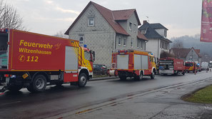 Umweltzug der Feuerwehr WIZ am 04.03.2021 an der Werra in Wendershausen im Einsatz
