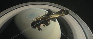 Bild: NASA - Raumsonde Cassini stürzt in den Saturn