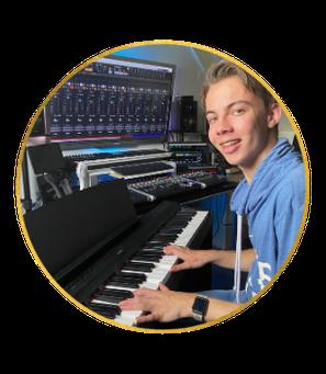 Paul van Meel; de jongste muziekleraar, muziekles tegen gereduceerd tarief.