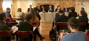 Stéphane Bouillon préfet de région Rhône-Alpes, en conférence de presse le 17 novembre (image France 3 Rhône-Alpes)