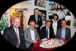 Philipp Jauernik, MEP ret. Hannes Swoboda, Matthias Laurenz Gräff, S.E. Botschafter Emil Brix, Georgia Kazantzidu, Emil   (Foto Mag. Klaus Bergmaier)