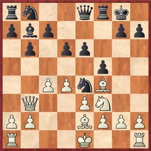 Wagner - Gottas: Weiß spielte hier das interessante 12.c5??!! mit unklarer Stellung
