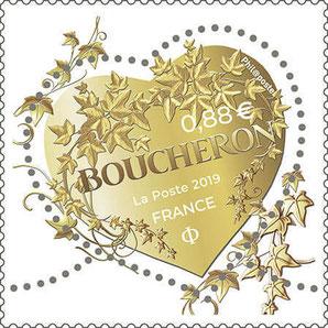 2019 - BOUCHERON : EDITION D'UN TIMBRE POSTE A 0,88 €
