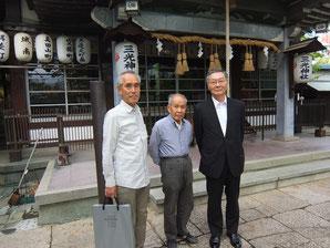 真ん中は三光神社の宮司、小田禮五郎さん
