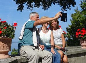 Fotoshooting auf der Schlossterrasse