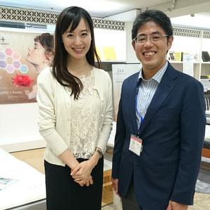 小林麻利子先生と私 / 西川リビング本社にて