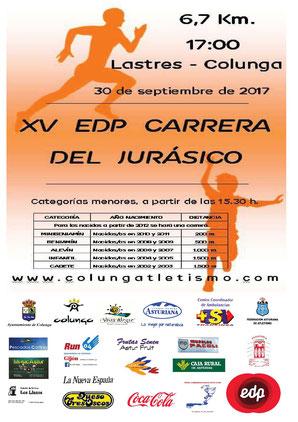 XV CARRERA EDP JURÁSICO - Colunga, 30-09-2017
