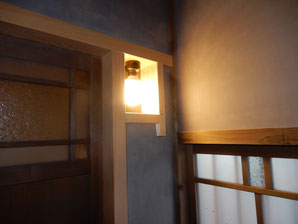 古民家再生 修復工事 厠 灯り窓