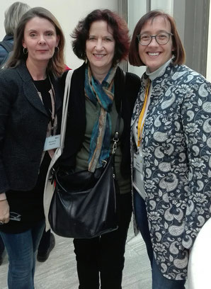 Michelle, Marjorie Rosenberg and conference organiser, Sarah Mercer