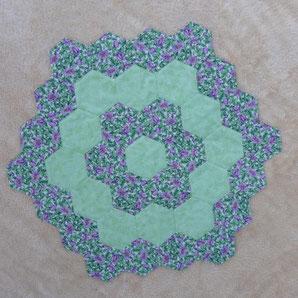 Tischdecke / Mitteldecke / hexagon