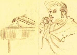 原田さん所蔵のスケッチ:成良仁(なりよし じん)2000.6.25六本木サテンドールにて