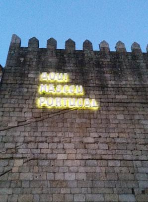 Portugal Guimaraes Aqui nasceu Portugal
